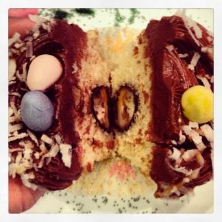 Mini Cadbury cream egg hidden in the center!