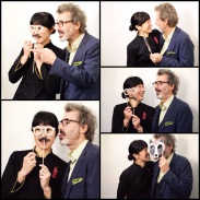 Joanne Chang and husband, Chris Meyers, having some fun at the photo booth