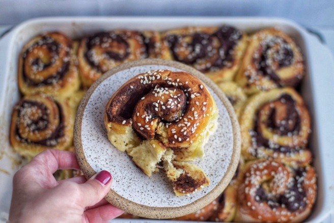 Chocolate Tahini Challah Buns From Smitten Kitchen A Spoonful Of